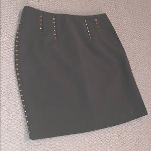 Gold Detailed Army Green skirt